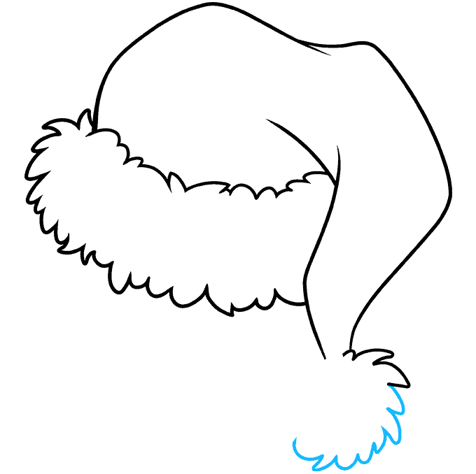How to Draw Santa Hat: Step 8