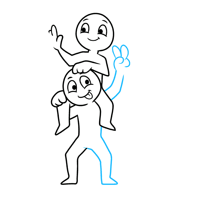 How to Draw Squad: Step 5