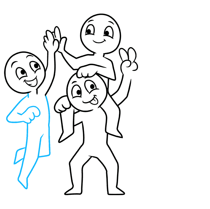 How to Draw Squad: Step 7