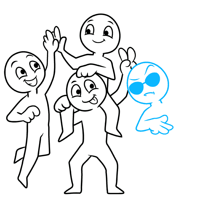 How to Draw Squad: Step 8
