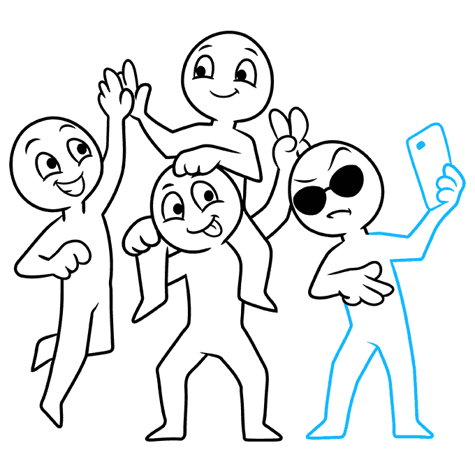 How to Draw Squad: Step 9