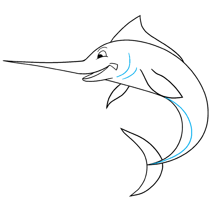How to Draw Swordfish: Step 7