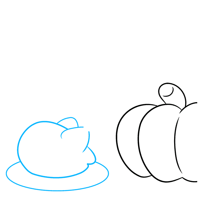 How to Draw a Thanksgiving Background Step 02