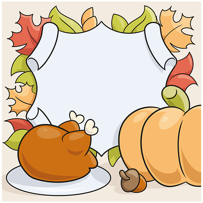 How to Draw a Thanksgiving Background Step 10