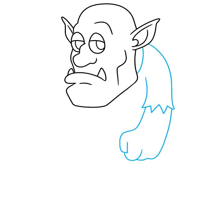 How to Draw a Troll Step 06