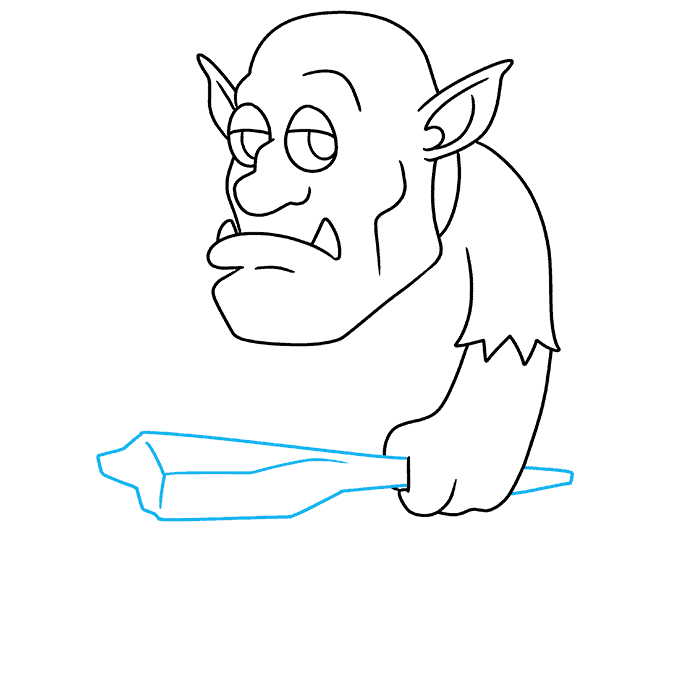 How to Draw a Troll Step 07
