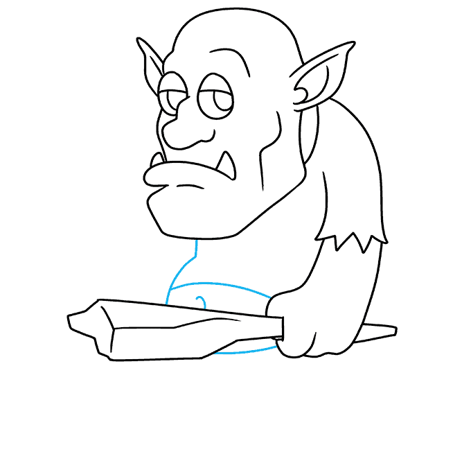 How to Draw a Troll Step 08