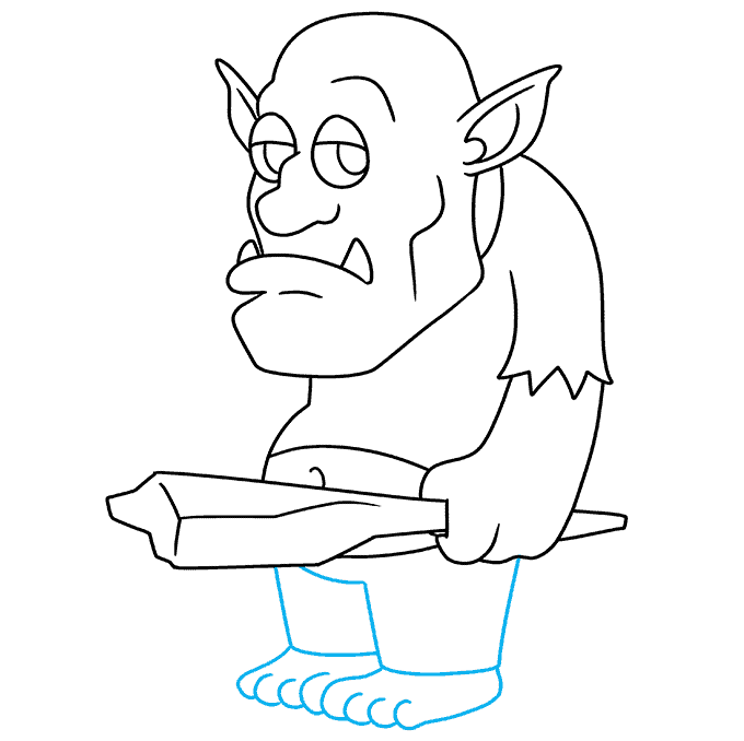 How to Draw a Troll Step 09
