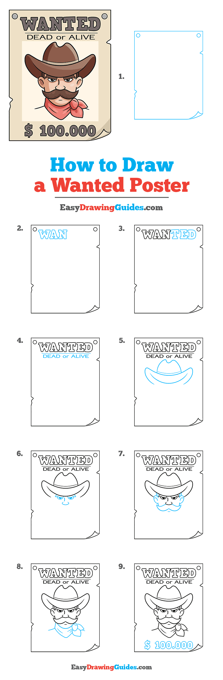 How to Draw Wanted Poster