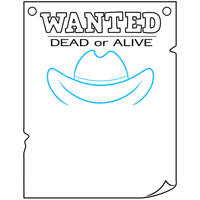How to Draw Wanted Poster: Step 5