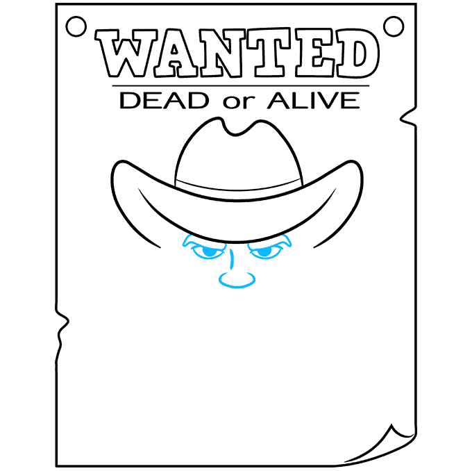 How to Draw Wanted Poster: Step 6