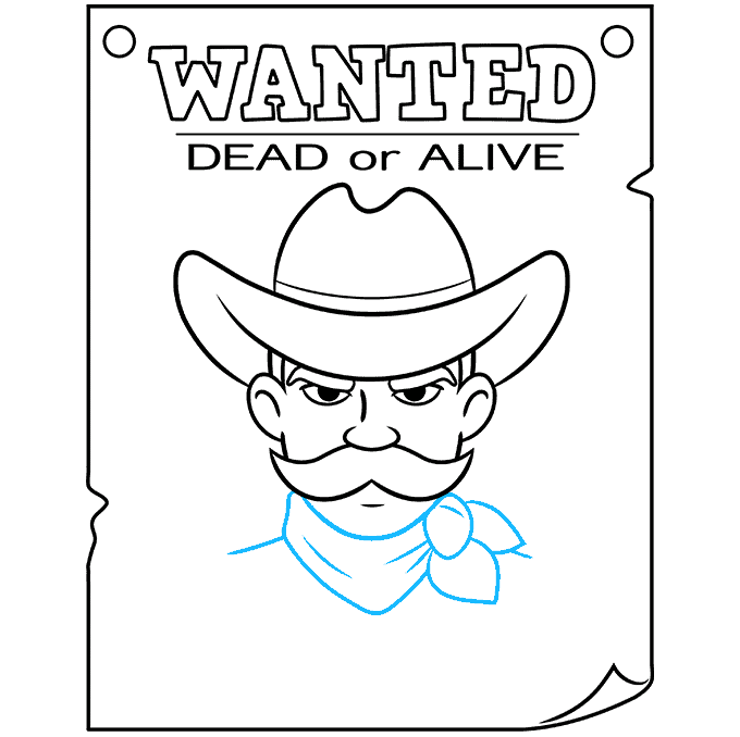 How to Draw Wanted Poster: Step 8