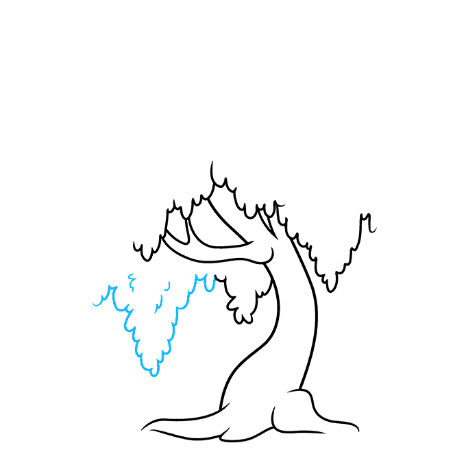 How to Draw a Willow Tree Step 04