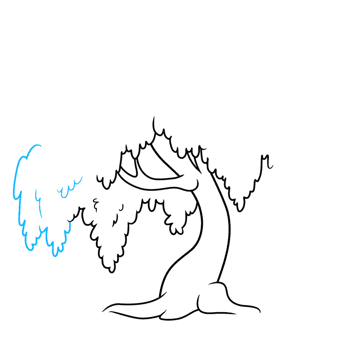 How to Draw a Willow Tree Step 05