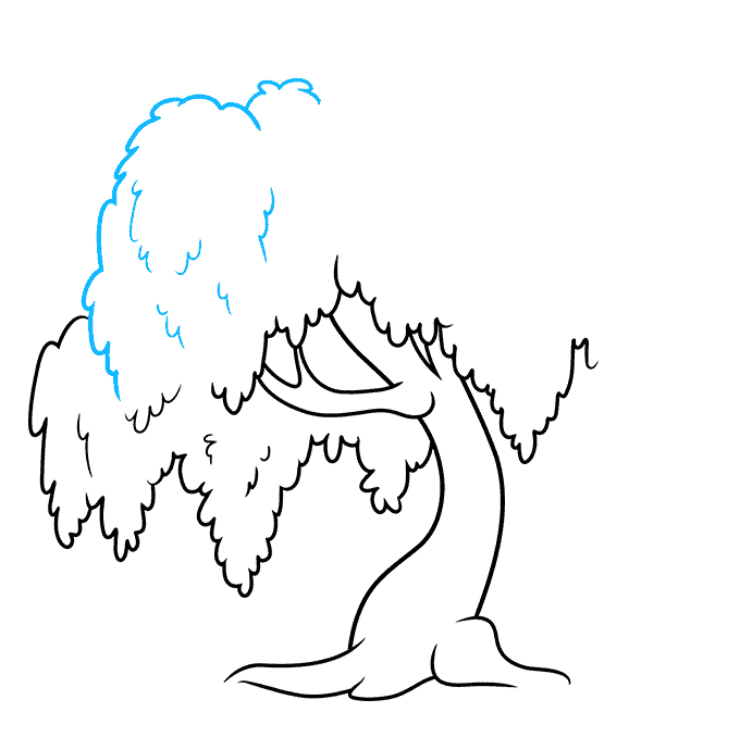 How to Draw a Willow Tree Step 06