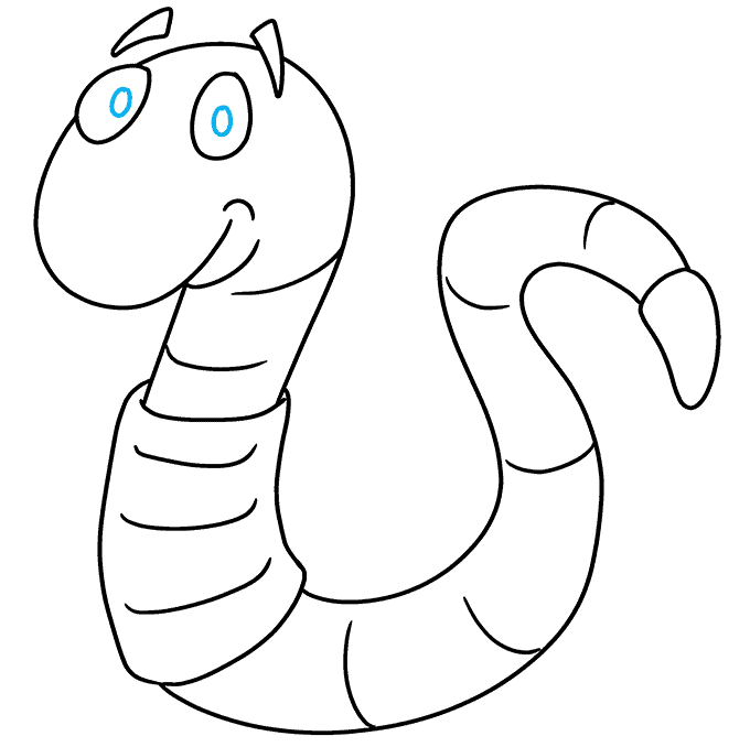 How to Draw Worm: Step 9