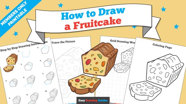 Printables thumbnail: How to Draw a Fruitcake