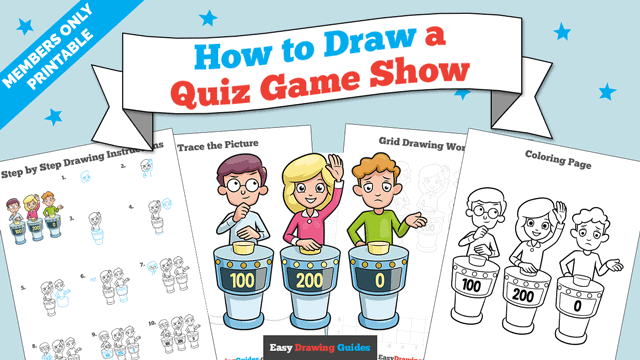 download a printable PDF of Quiz Game Show drawing tutorial