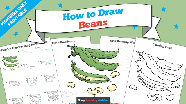download a printable PDF of Beans drawing tutorial