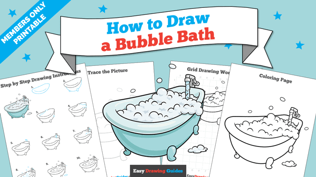 download a printable PDF of Bubble Bath drawing tutorial