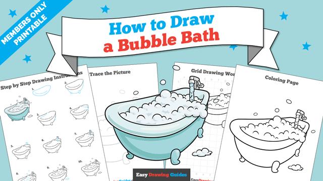 Printables thumbnail: How to Draw a Bubble Bath