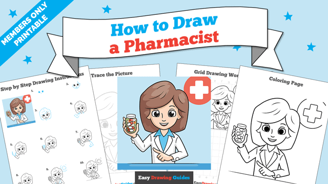 download a printable PDF of Pharmacist drawing tutorial