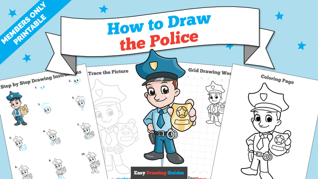 download a printable PDF of Police drawing tutorial