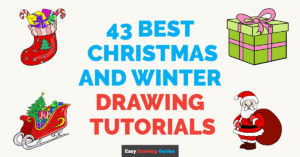 43 Best Christmas and Winter Drawing Tutorials - Featured image