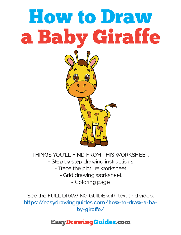 How to Draw Baby Giraffe Printable - Page 1