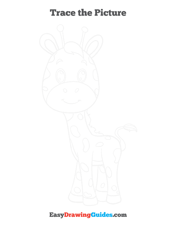How to Draw Baby Giraffe Printable - Page 3