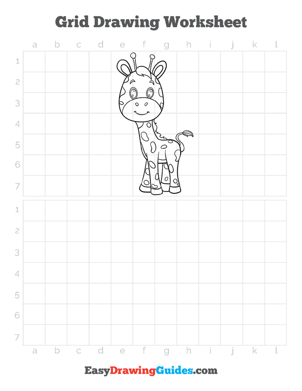 How to Draw Baby Giraffe Printable - Page 4