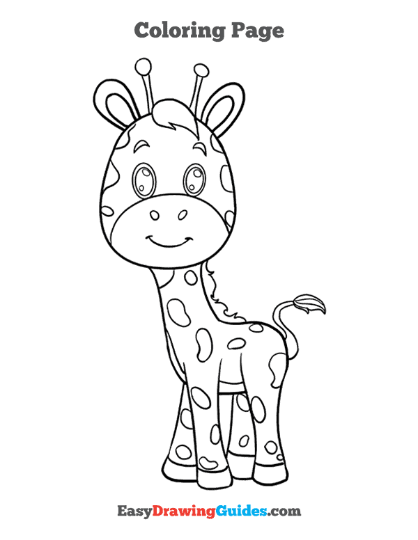 How to Draw Baby Giraffe Printable - Page 5