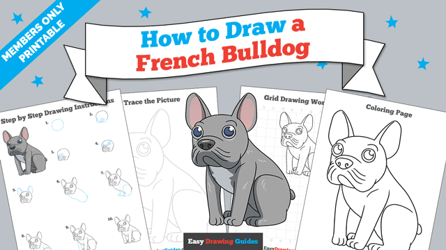 download a printable PDF of French Bulldog drawing tutorial
