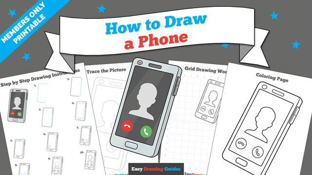 download a printable PDF of Phone drawing tutorial
