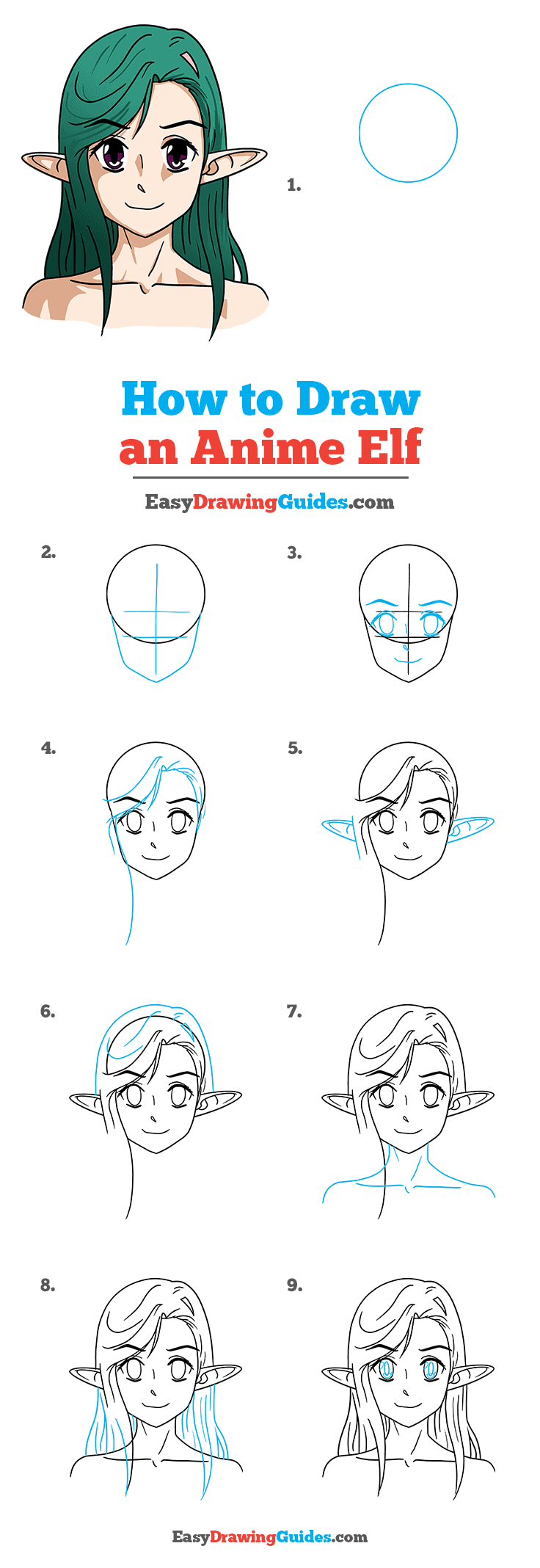 How to Draw Anime Elf