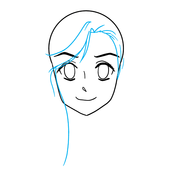 How to Draw Anime Elf: Step 4