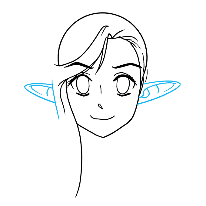 How to Draw Anime Elf: Step 5