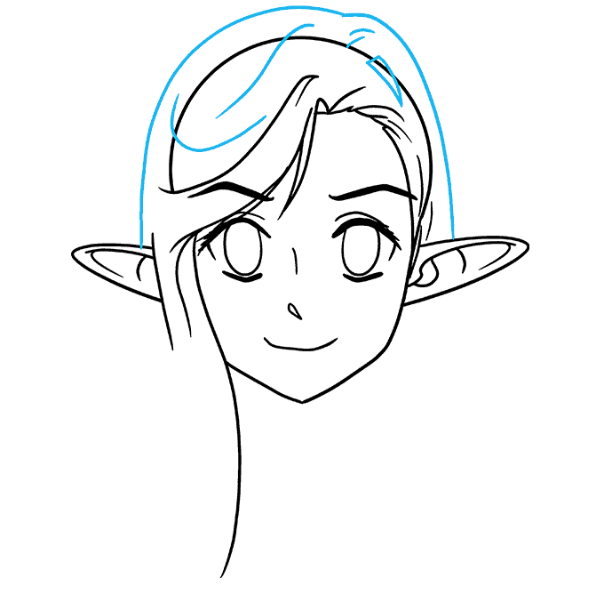 How to Draw Anime Elf: Step 6