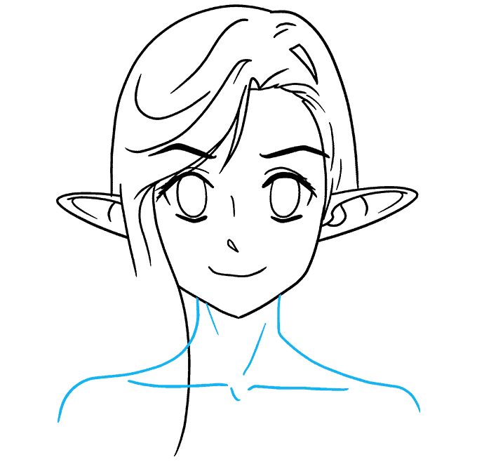 How to Draw Anime Elf: Step 7