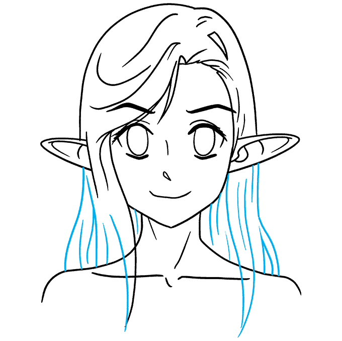 How to Draw Anime Elf: Step 8