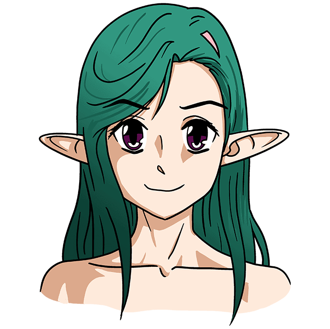 How to Draw Anime Elf: Step 10