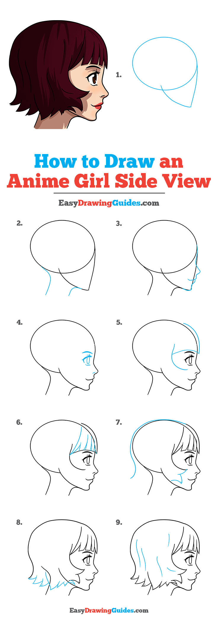 How to Draw Anime Girl Side View
