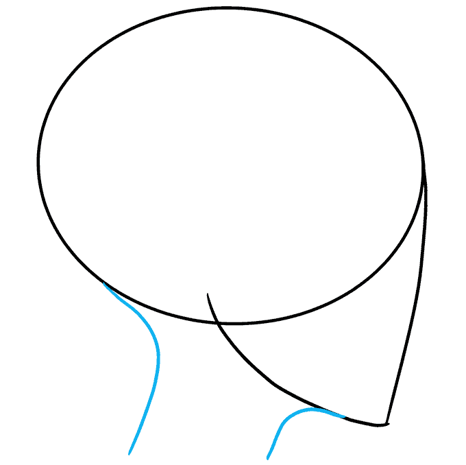 How to Draw an Anime Girl Side View Step 02