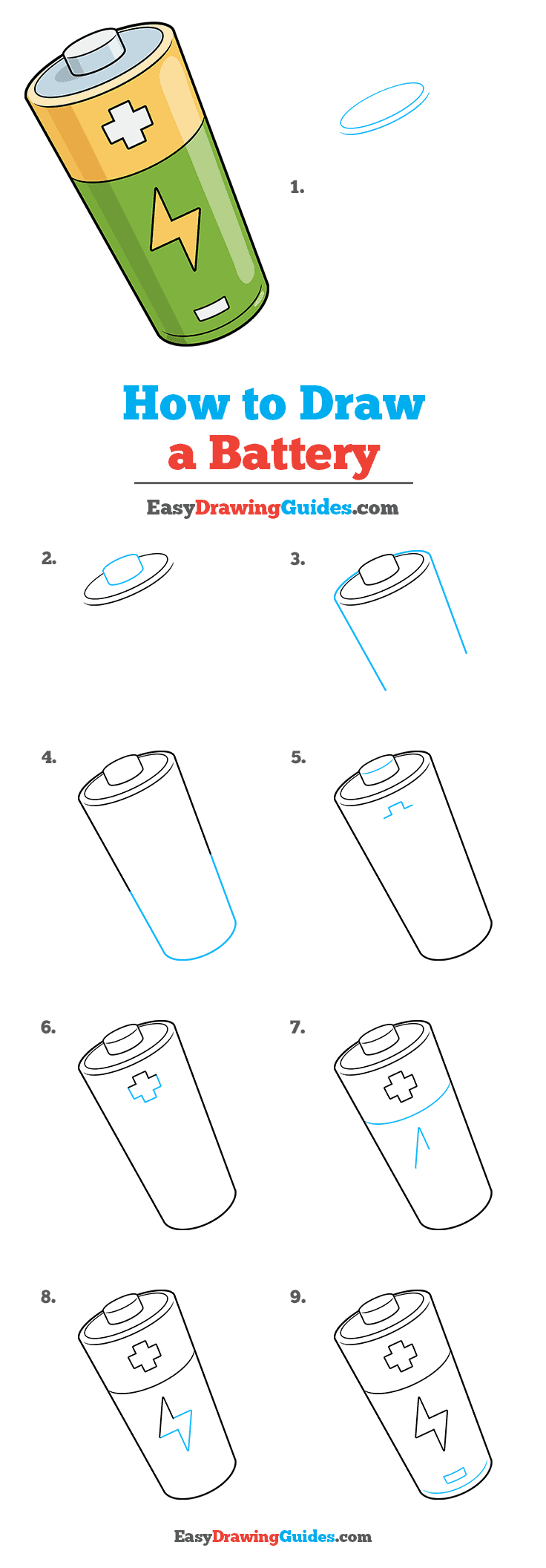 How to Draw Battery