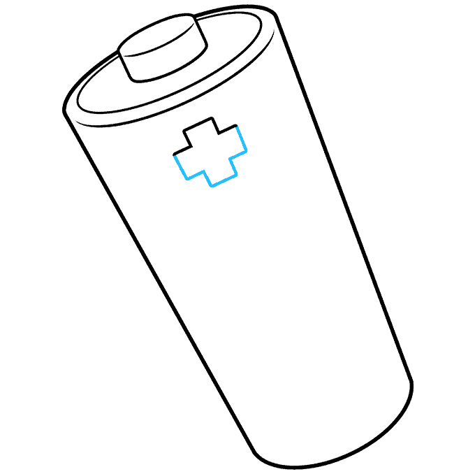 How to Draw Battery: Step 6