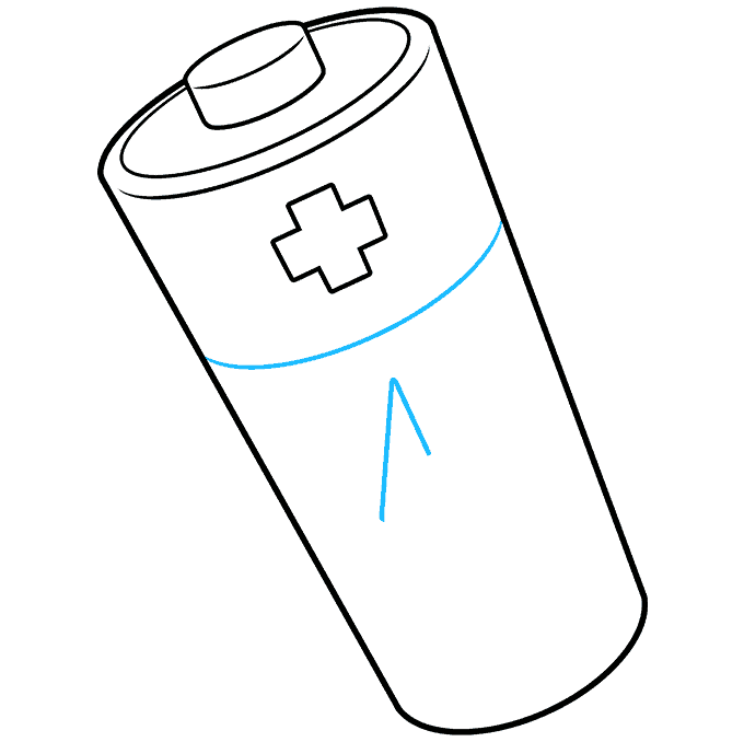 How to Draw Battery: Step 7