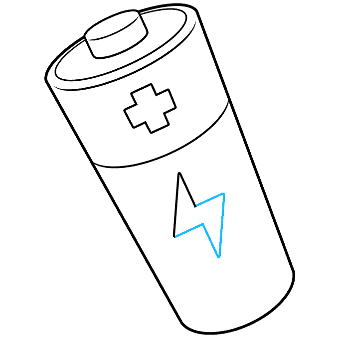 How to Draw Battery: Step 8