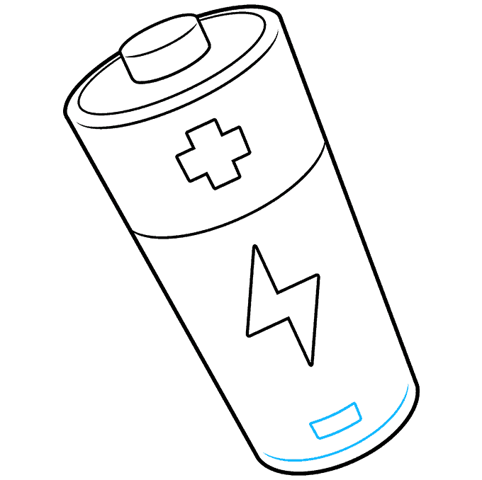 How to Draw Battery: Step 9