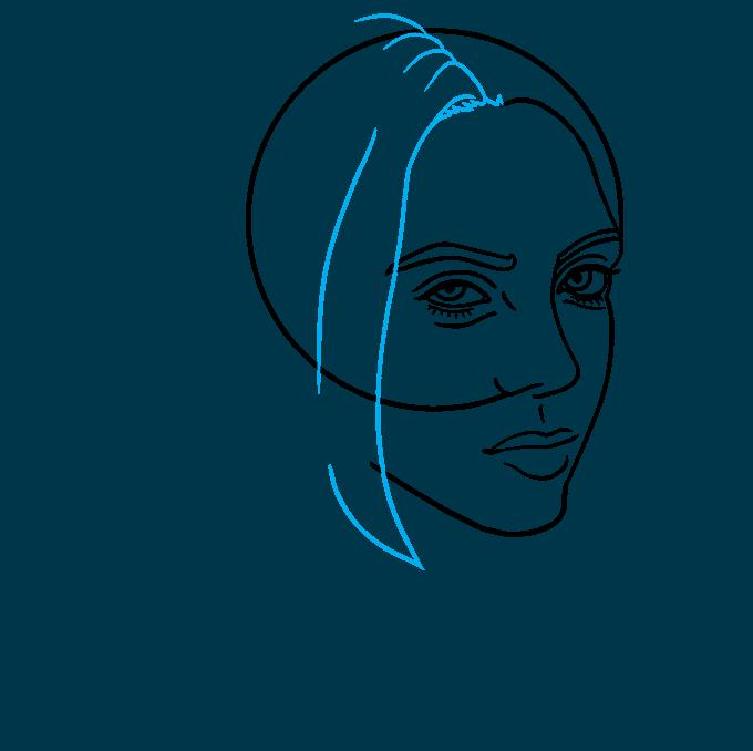 How to Draw Billie Eilish Step 05