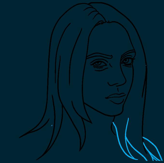 How to Draw Billie Eilish Step 07